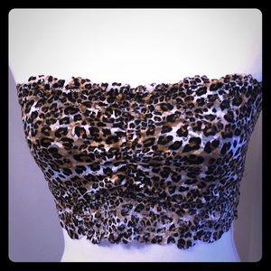 Leopard print bandeau bra